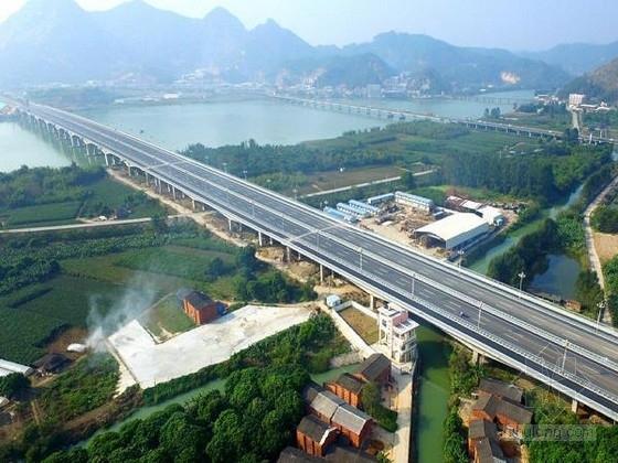 [福建]跨江跨河渠全宽49.5m上下行分离三向预应力三联变截面连续梁桥设计图364张