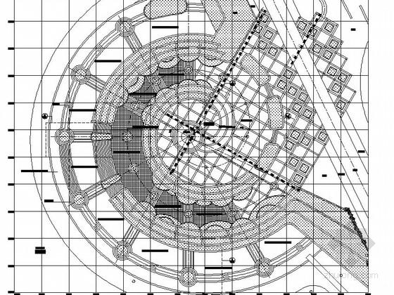 校园特色广场园林景观工程施工图