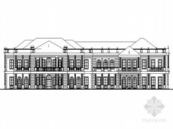 某二层新法式售楼会所建筑扩初图(2010年)