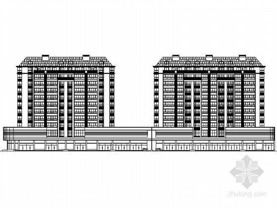 某十一层沿街欧式商住楼建筑施工图(南梯)