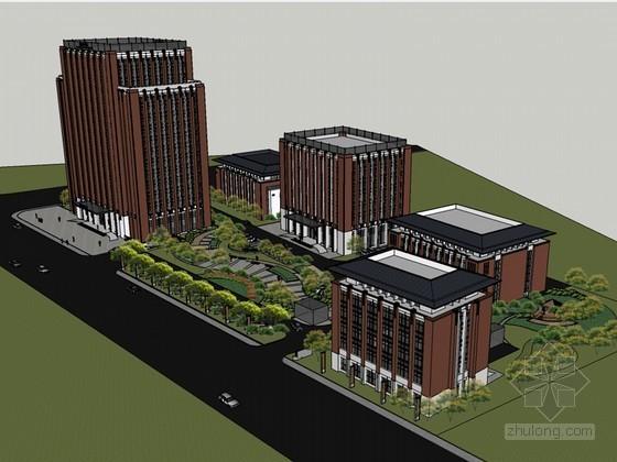 现代科技大厦SketchUp模型下载-现代科技大厦