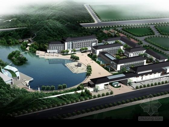 [湖南]中式办公区规划及单体设计方案文本(两个方案)