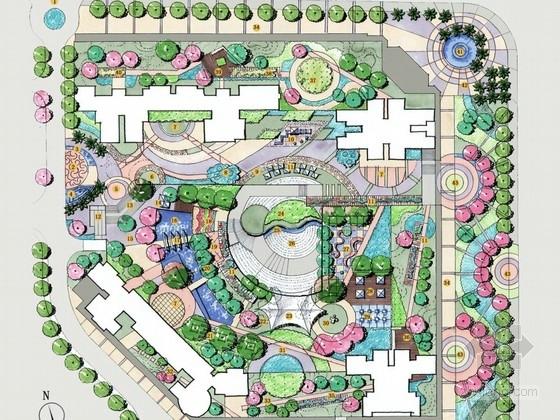 [深圳]现代简约风格居住区组团绿地景观设计方案