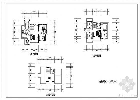 五种住宅户型平面建筑方案(一梯两户)