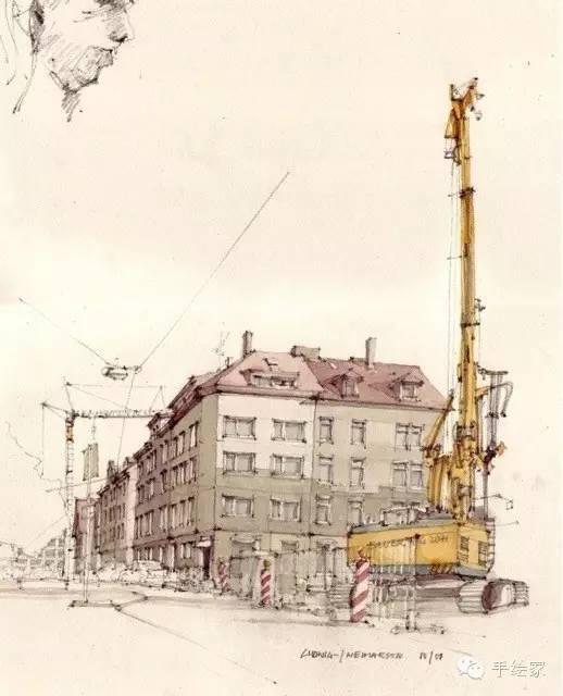 百年经典建筑设计手绘图_40