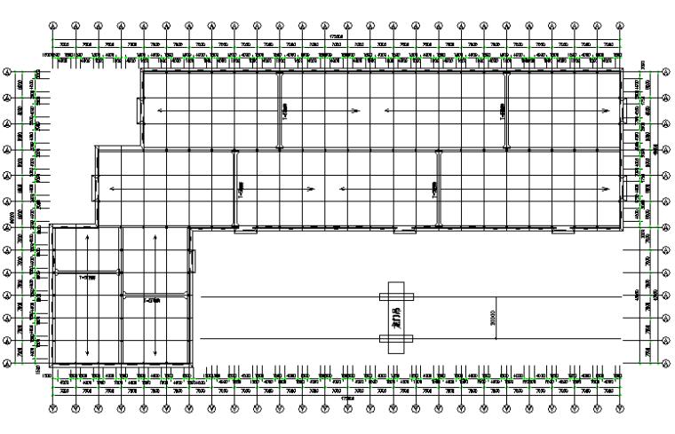 175mX90m门式刚架钢结构厂房工程施工图(CAD,11张)