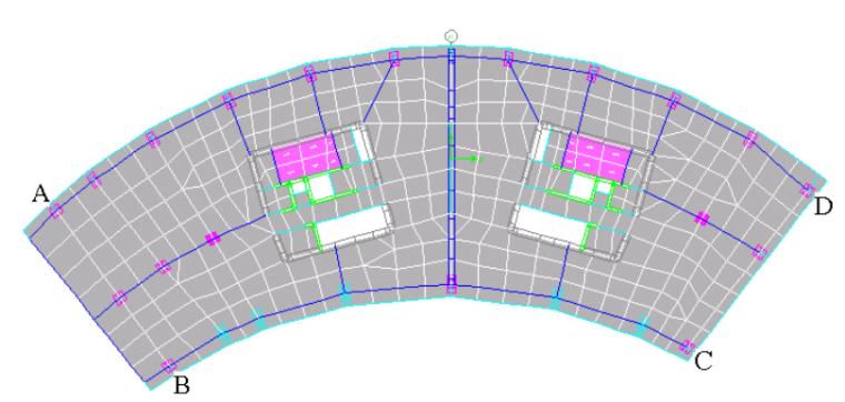 厦门裕景SOHO塔楼结构动力弹塑性分析