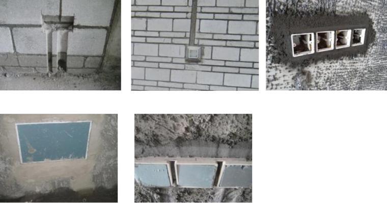 [海南]高层住宅及地下室工程项目管理策划书PPT(137页,图文并茂)-水电线盒开槽预埋标准做法