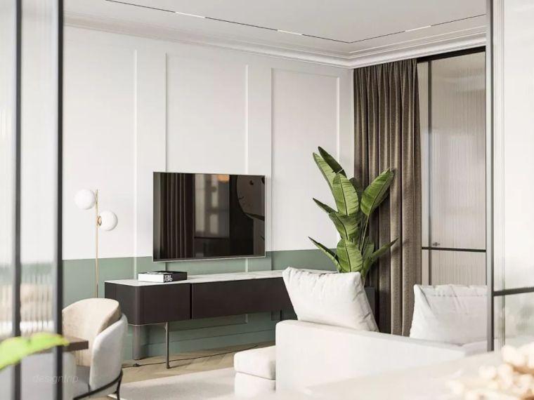 60m²,苹果绿简约单身公寓