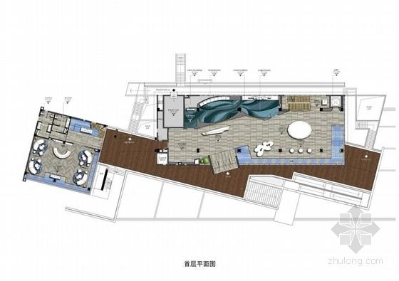 [广州]新中式奢华体验馆室内设计方案图