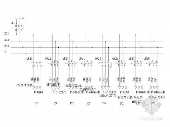 污水厂动力设备二次控制原理图(含端子接线图)