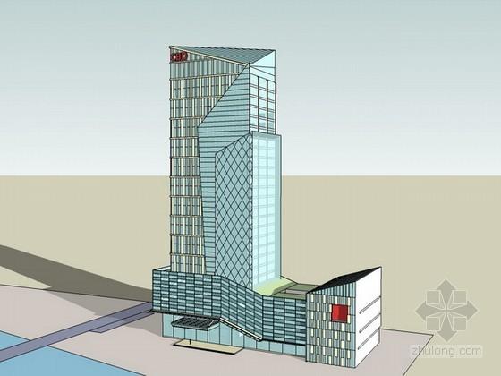 办公大楼sketchup模型下载