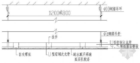 石膏板吊顶详图