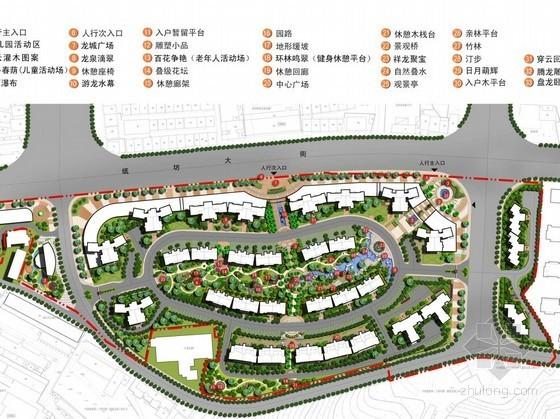 [武汉]中式现代居住区景观扩初设计方案