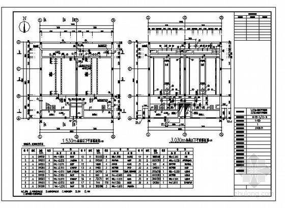某V型滤池结构设计图