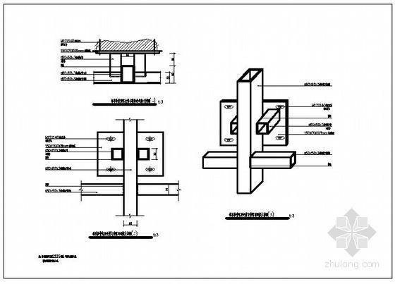 干挂铝单板幕墙节点详图