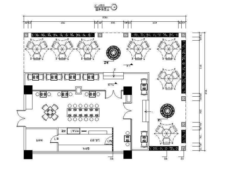 [深圳]浪漫优雅休闲安静咖啡厅室内设计CAD图
