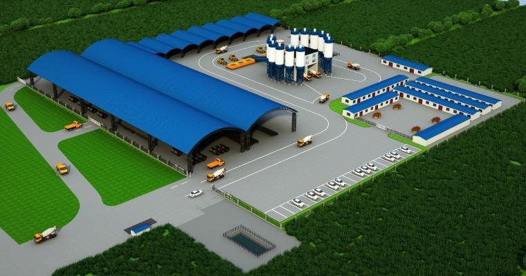 大临设施施工拌合站选址到完工全套资料(含施工方案及CAD图)
