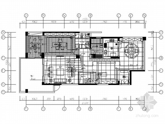 [广东]某现代时尚双层别墅室内装修施工图(含效果)