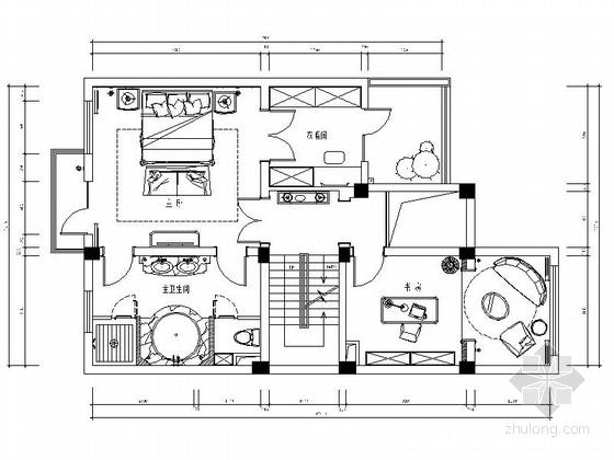 [南京]奢华大气美式风格金粉世家联排别墅设计竣工图(含高清实景图)