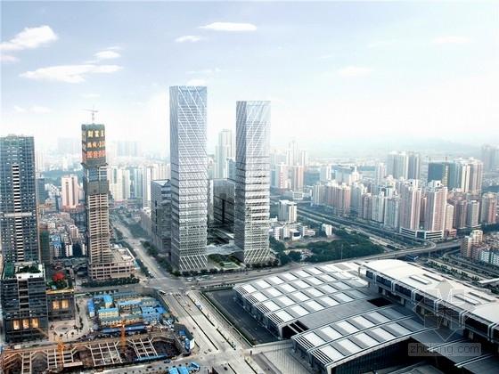 [深圳]现代风格超高层城市综合体设计方案文本(知名事务所)