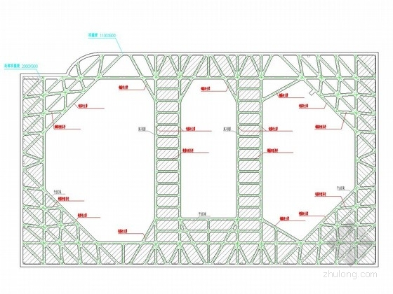 [上海]18米深基坑地下连续墙加四道混凝土支撑支护施工图