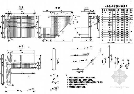 互通主线连续箱梁高架桥桥台耳背墙钢筋构造节点详图设计