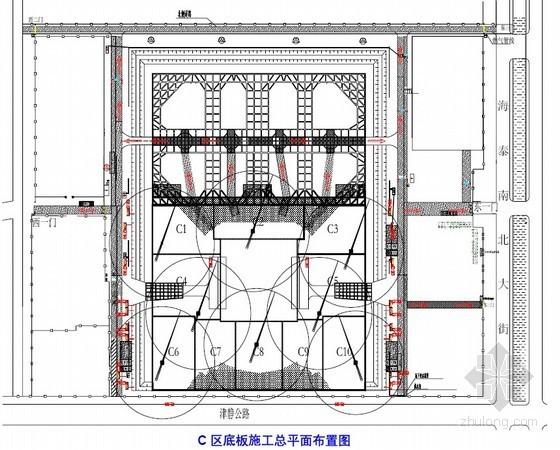 [天津]商务楼地下室底板施工方案(大体积混凝土)