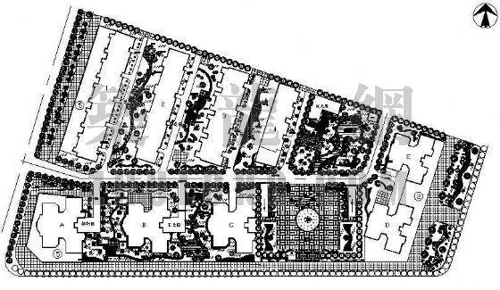 平湖花苑景观设计平面布置图