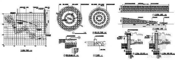 卵石景墙详图