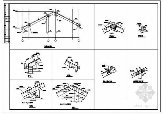 某坡屋顶节点构造详图