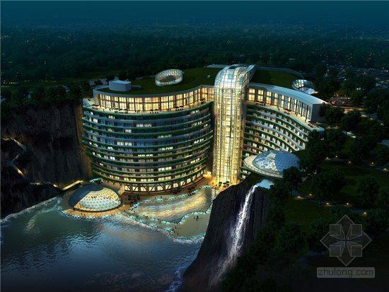 """[上海]五星级""""深坑酒店""""建筑设计及施工过程解密"""