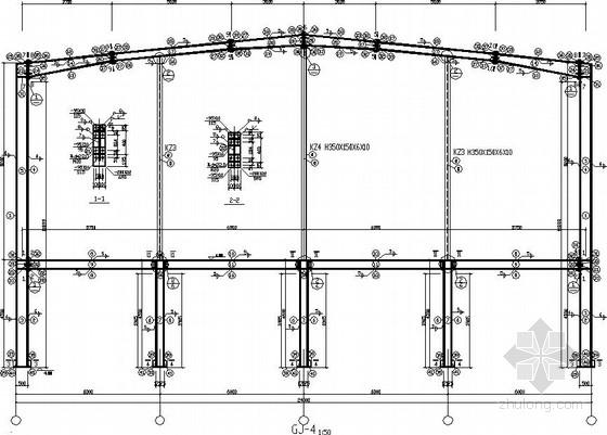[江苏]24米跨机械厂厂房结构施工图