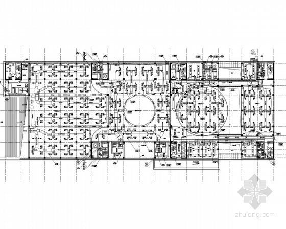 [河南]多层办公楼空调通风排烟系统设计施工图(含冷冻机房)