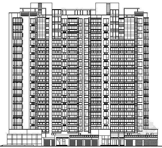 某十七层住宅楼建筑方案图