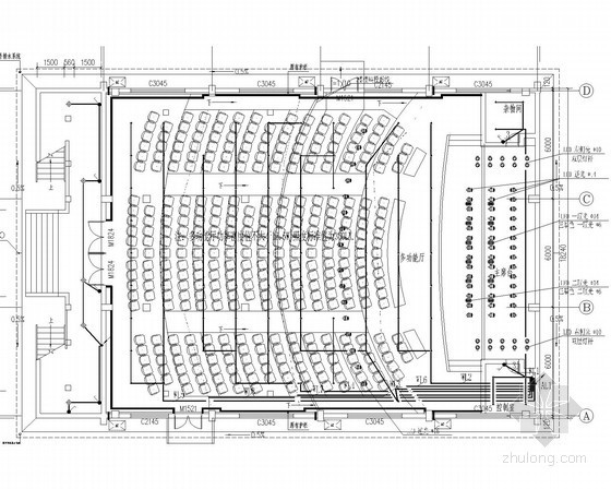 [湖南]省重点中学改造项目电施图20张(多功能厅 体育馆 教学楼)