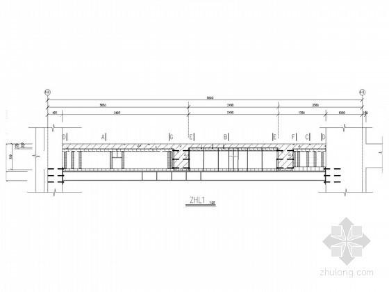 楼面增加荷载粘钢和增设钢梁加固节点图