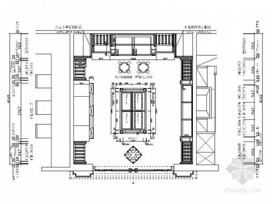 [成都]欧式复古典雅酒窖室内设计CAD施工图