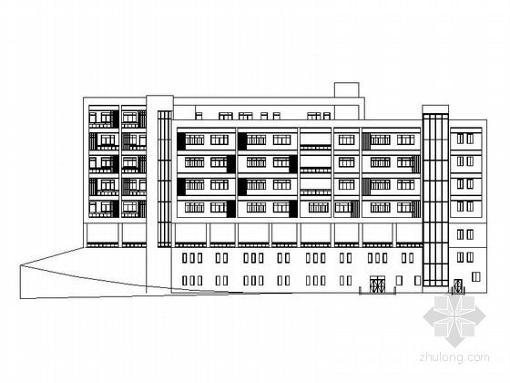 [重庆]5层现代风格小学教学楼建筑方案图(含有效果图)
