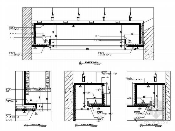 某会所现代中式套房室内装修天花节点图