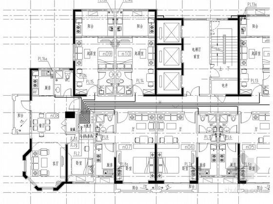 [河南]高层公寓楼给排水及消防设计施工图(自动喷淋)