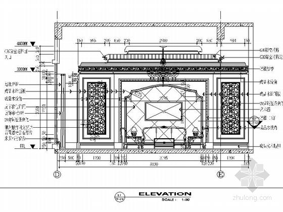 [苏州]奢华欧式风格商务会所七层客房区室内装修图(含效果) 小客厅立面