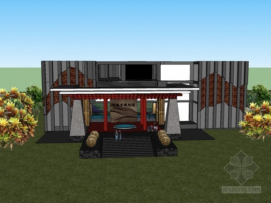 城市规划馆SketchUp模型下载