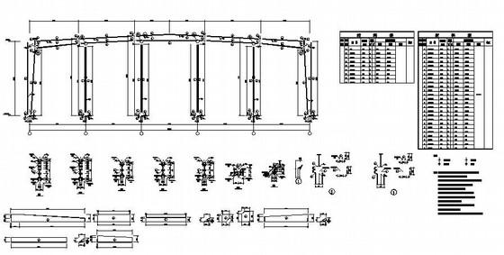 34米大跨门式钢架厂房结构施工图