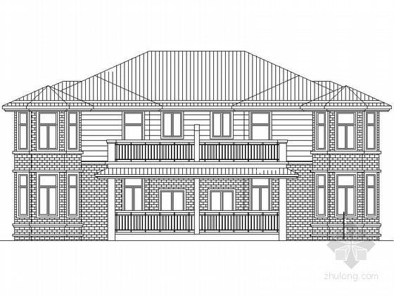 某二层双拼别墅建筑扩初图(含效果图)