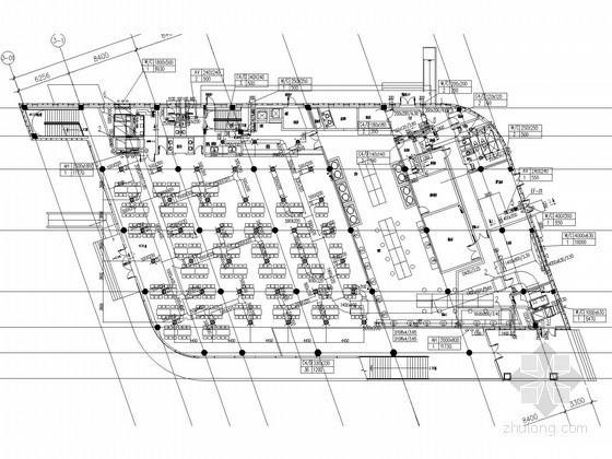 [上海]多层餐厅空调通风及防排烟系统设计施工图(人防设计)