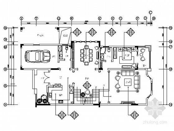 英伦风格双拼别墅样板房施工图(含效果)