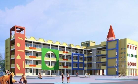 [北京]3层幼儿园建筑装饰工程量计算及预算实例(附全套图纸 74页)