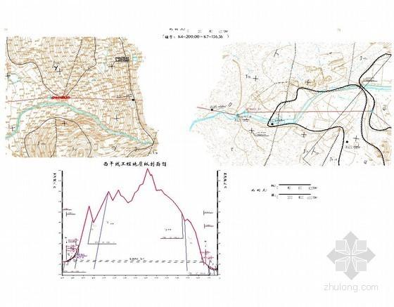 水利隧洞工程地质平面图及剖面图