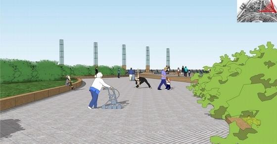 [浙江]休闲观景滨江公园景观规划设计方案-景观效果图